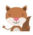 colorful half body caricature of cute chipmunk vector image
