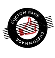Custom Made rubber stamp vector image vector image