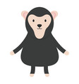 cute monkey childish character vector image