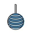 decorative balls icon vector image vector image