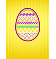 easter card embroidery vector image vector image