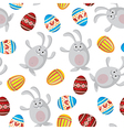 easter funny pattern vector image vector image
