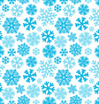 Festive Christmas and New Year seamless snowflakes vector image vector image