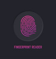 fingerprint reader icon vector image