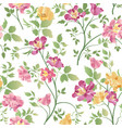 floral ornamental seamless pattern flower bouquet vector image vector image