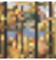 Foggy autumn forest landscape vector image vector image