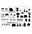 furniture room interior black silhouette design vector image vector image