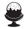 glass ice cream icon simple black style vector image vector image