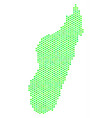 green honeycomb madagascar island map vector image vector image
