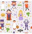Halloween kids pattern vector image