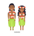 hawaii male and female image vector image vector image
