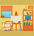 home art studio with easel and painting tools