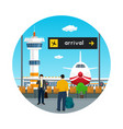 icon waiting room in airport with people vector image vector image