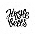 jingle bells calligraphic lettering text vector image vector image
