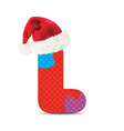 Letter L written with alphabet puzzle vector image vector image