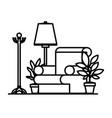livingroom with coat rack scene vector image vector image