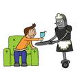 Maid Robot cartoon vector image vector image