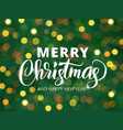 merry christmas and happy new year text hand vector image vector image
