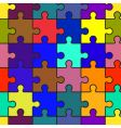 motley abstract background with puzzle vector image vector image