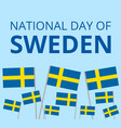National day of sweden vector image