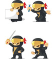 Ninja Customizable Mascot 2 vector image vector image