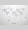 paper art a world map vector image