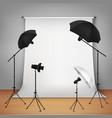 Photo Studio Design Concept vector image