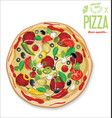 pizza background retro design vector image vector image