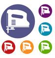 Pneumatic gun icons set vector image
