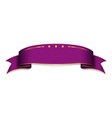 purple satin empty ribbon blank banner design vector image