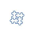 puzzlejigsaw line icon concept puzzlejigsaw vector image