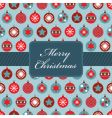 red and blue Christmas wrapping vector image vector image