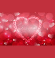 red valentine with background a heart concept vector image vector image