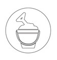 sand bucket icon vector image