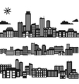 Silhouettes of buildings vector image vector image