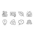 skin cream swipe up and recycle icons set leaf vector image vector image