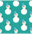 snowman cold christmas season winter seamless vector image