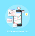 stock market analysis vector image vector image