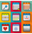 streamline the day icons set flat style vector image