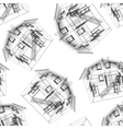 Stylized house pattern vector | Price: 1 Credit (USD $1)
