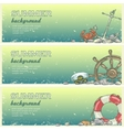 summer beach background with sample text vector image vector image