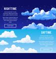 templates design banners with clouds vector image