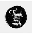 Thank you so much insignia and labels for any use vector image vector image