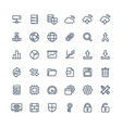 thin line icons set with big data vector image vector image