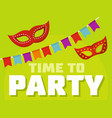 time to party logo flat style vector image vector image