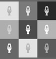 toilet sign grayscale vector image vector image