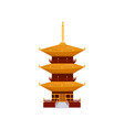 traditional asian pagoda building buddhist temple vector image