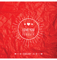 Valentines Day Card - with Love Quote vector image