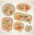 vintage seasonal sale stickers set vector image vector image