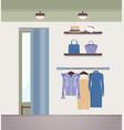 vogue clothes shope color vector image vector image